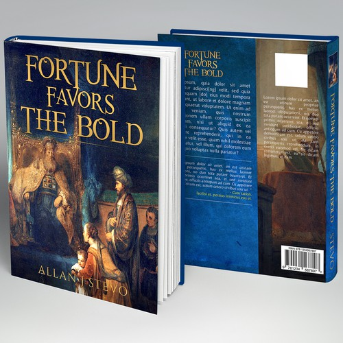 Book cover for poetry book using a serious artwork