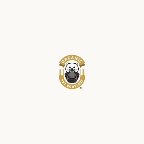 Badge - fun logo for Pet Boutique