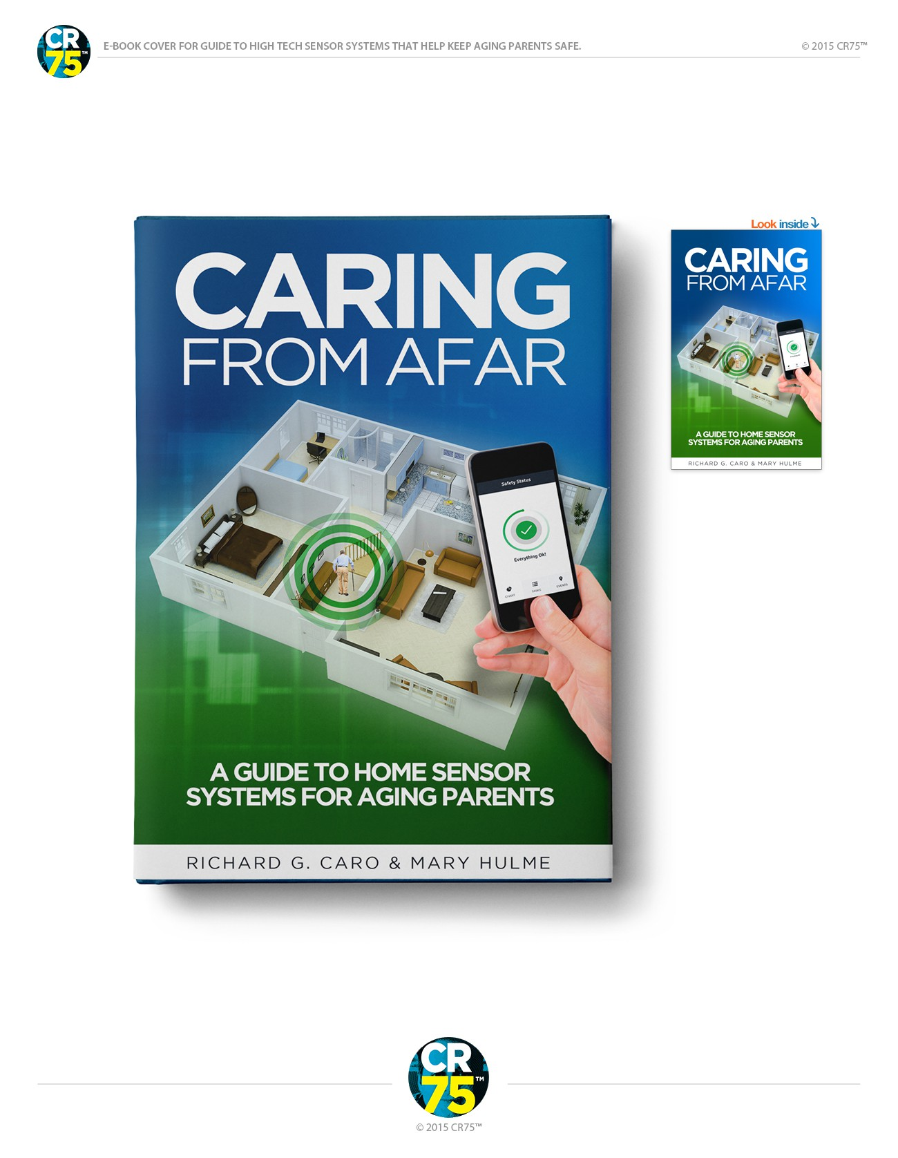 E-book cover for guide to high tech sensor systems that help keep aging parents safe.