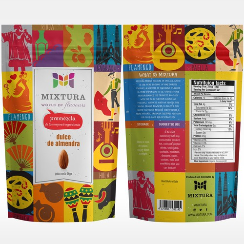 Colorful, Fun and Fiesta (Origins From SPAIN) Packaging Design.