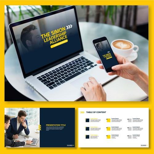 The Simon Leadership Alliance powerpoint design