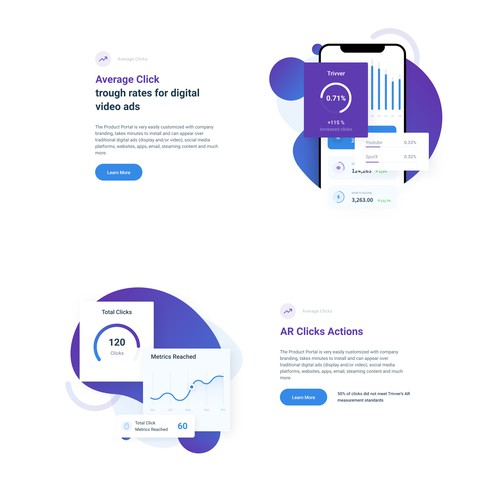 UI Web Elements - Landing page