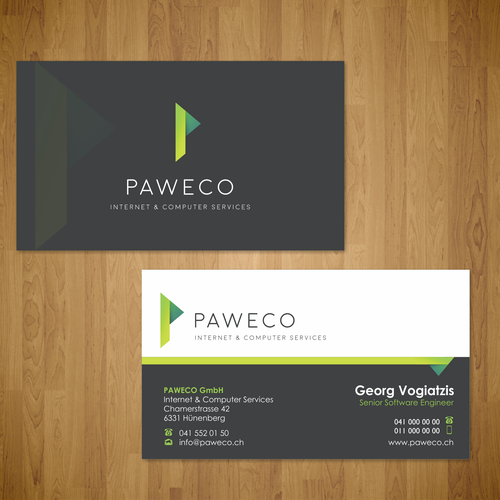 business card for Paweco