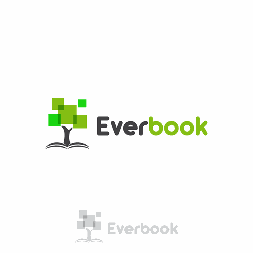 "Create a company logo for ""Everbook"" that will also serve as the book title on the book's cover page"