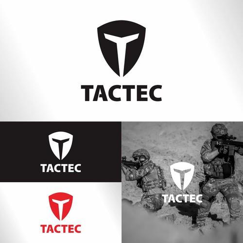Shield logo represent T letters