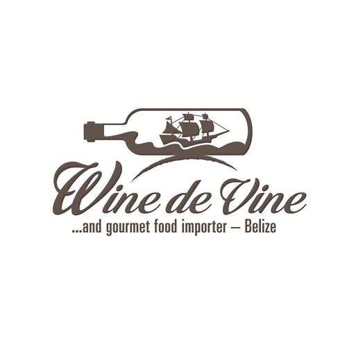 A logo for a wine shop on an island in the Caribbean