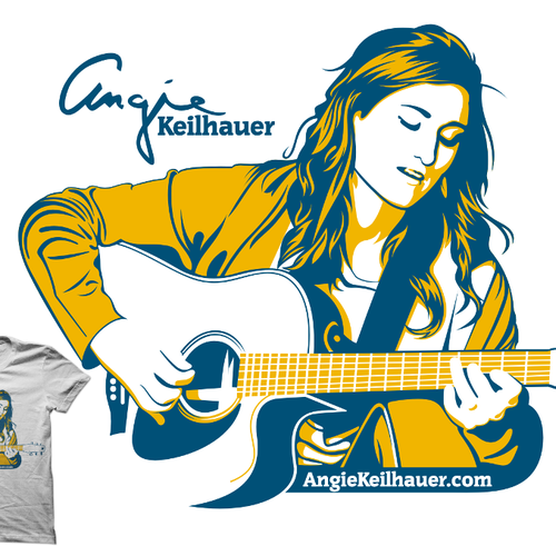 Touring Acoustic Musician T-Shirt to sell on National Tour!!!!