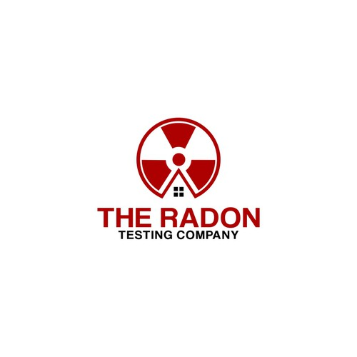 Design an eye-catching logo that suggests danger and alarm for The Radon Testing Company