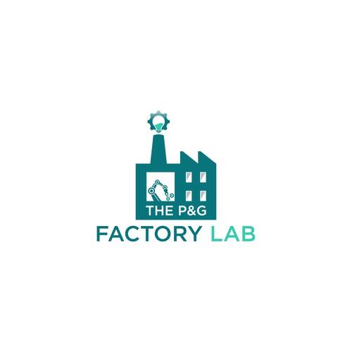 the P&G factory lab logo concept