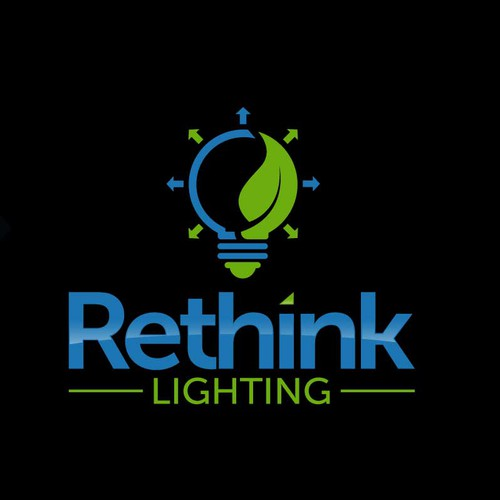 Create a simple, professional logo for our environmentally friendly company- Rethink Lighting!
