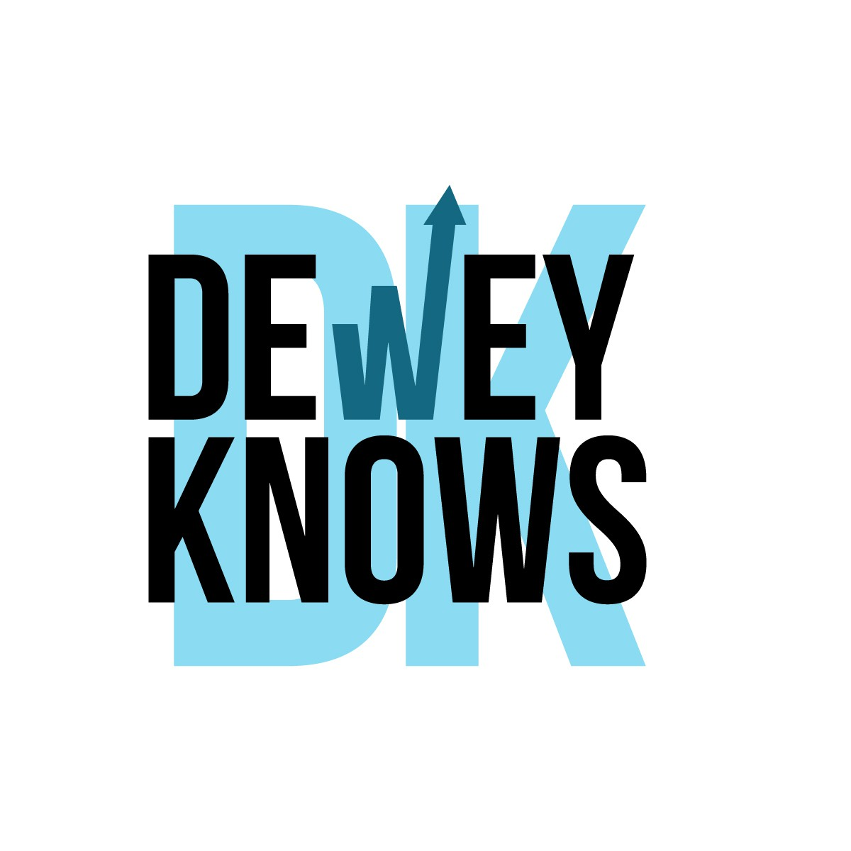 Dewey Knows Bold and Badass Logos
