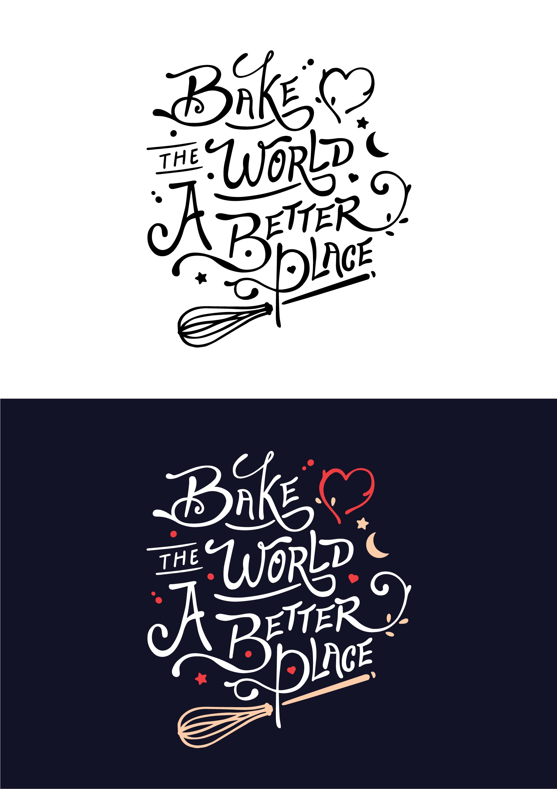 Cute Apron Hand Lettering & Illustration Design to Appeal to Women