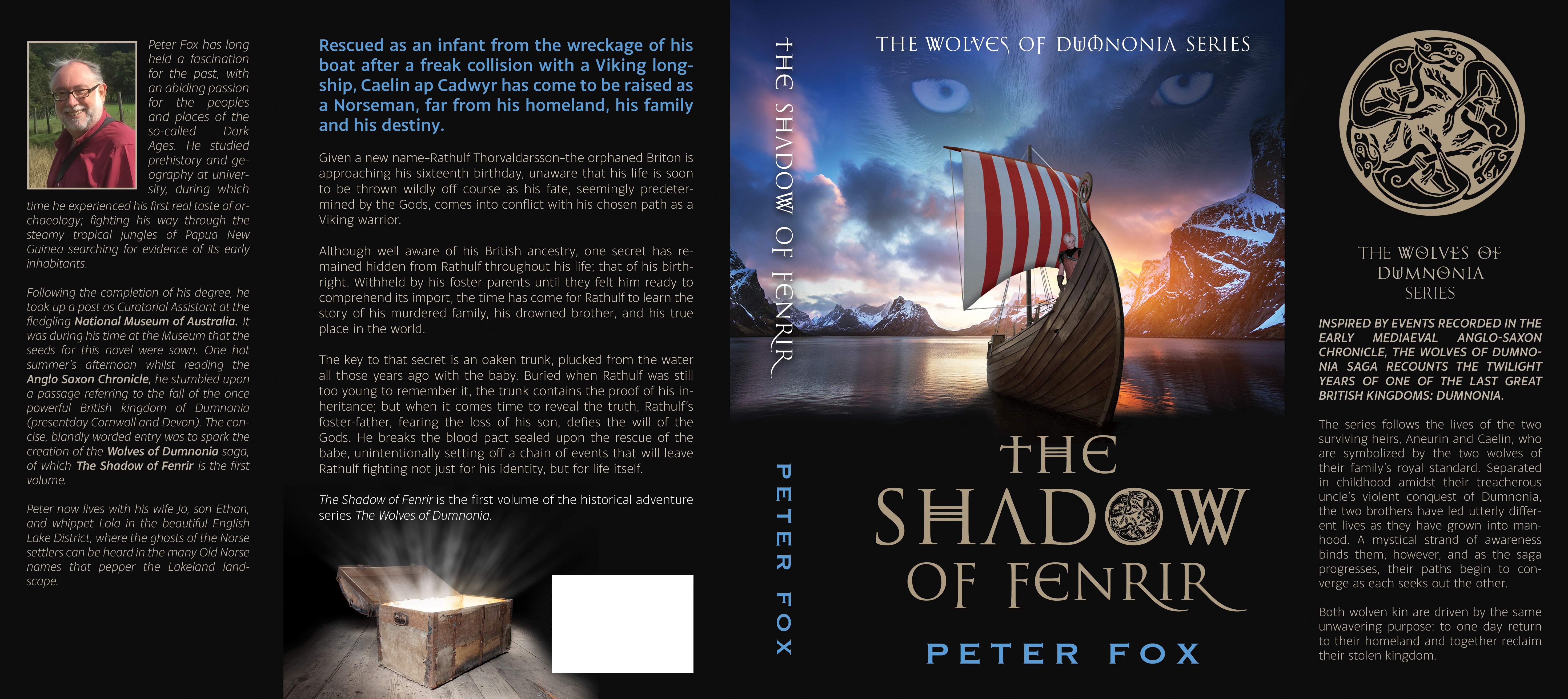 Create a dramatic cover for a Viking-age historical adventure series