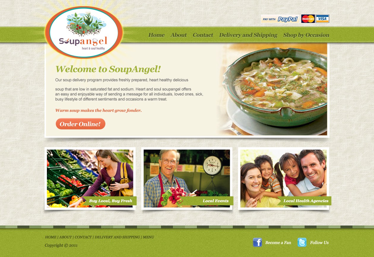 Help Soupangel with a new website design