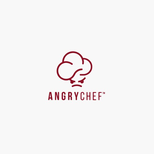 logo concept angry chef
