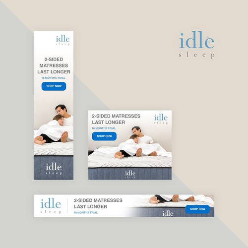 Banner ad set for Idle Sleep