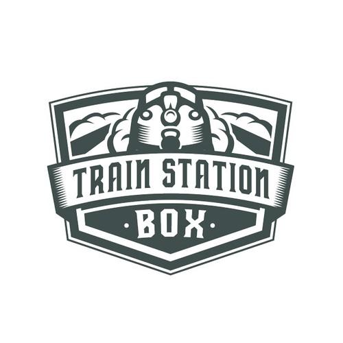 Train theme logo