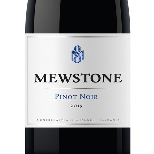 Mewstone Vineyard Tasmania - Label