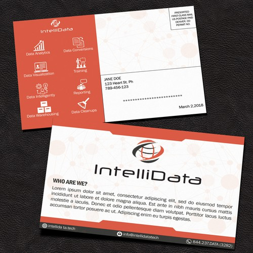 Data Intelligently Post Card