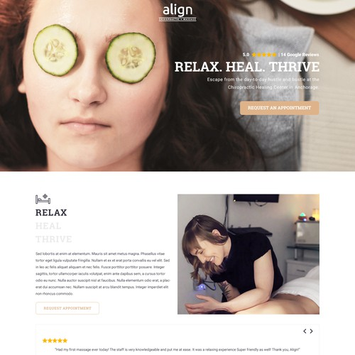 Contemporary Landing Page Design for a Chiropractic Office