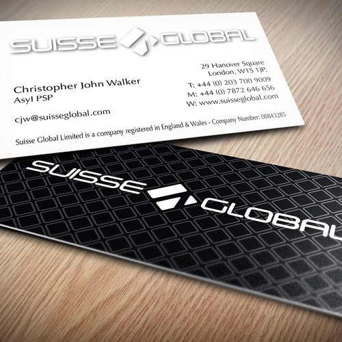 Suisse Global Logo submission business card