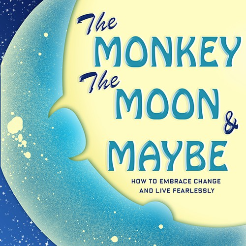Book cover : The Monkey, the Moon and Maybe