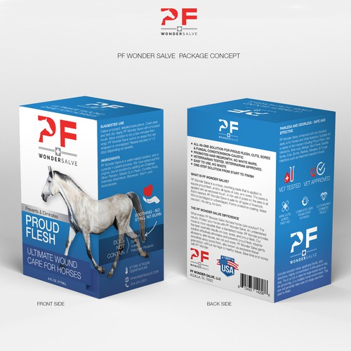 Package design for PF Wonder Salve