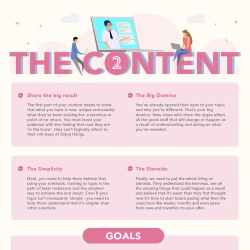 Infographic design for online education
