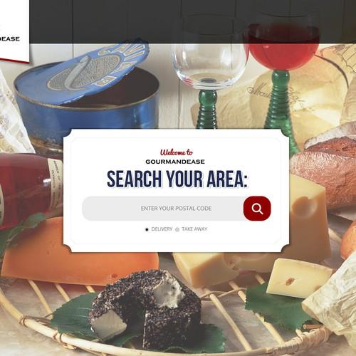 Create a winning website design for food startup Gourmandease.com