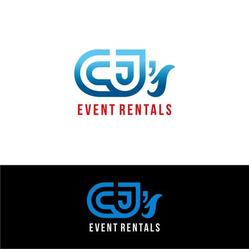 logo concept CJ's event rentals