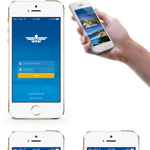 Uber/Cab style booking app for aviation