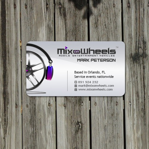 LOOK! Business cards needed for DJ entertainment vehicle company