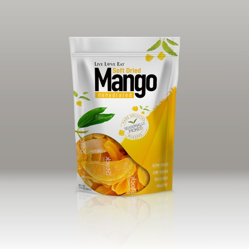 Soft Dried Mango Packet Design