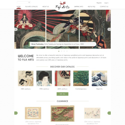 Simple, easy-to-navigate site for Japanese art dealer