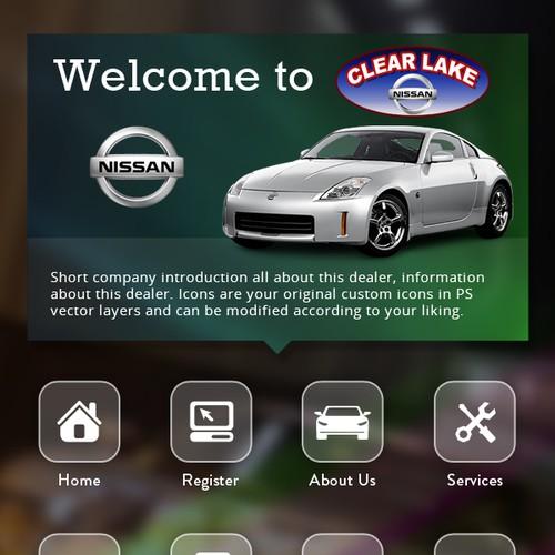 Automotive Kiosk UI Design