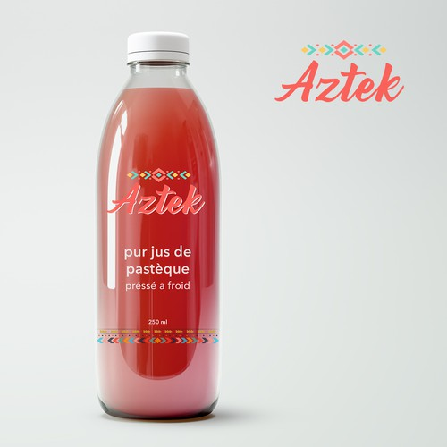 Aztec Inspired Logo and Packaging for Watermelon Juice Brand