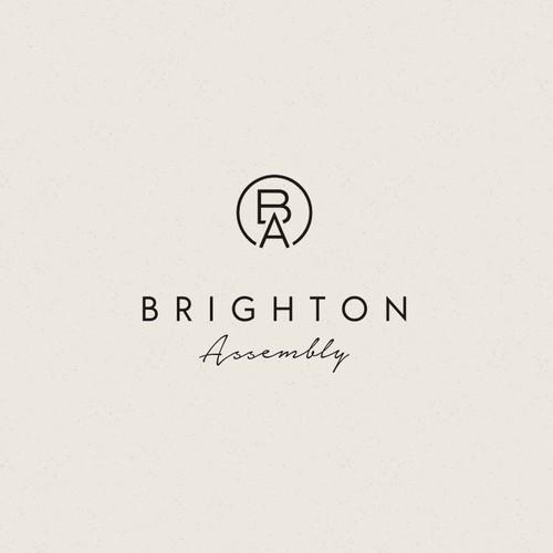 Simple Clean Elegant Logo initial BA