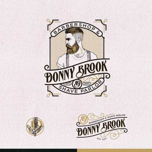logo for DONNY BROOK Barbershop