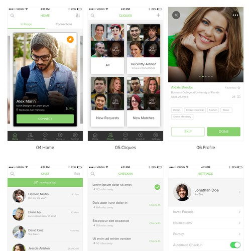 Renge App Design for social media