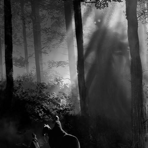 Super Creepy Illustration for a Horror Novel