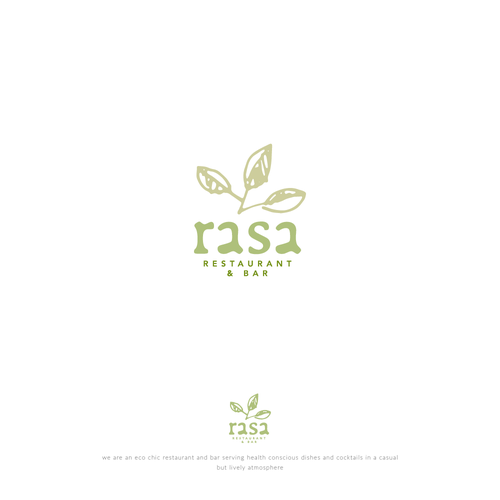 Logo concept for healthy restaurant and bar