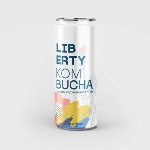 Bold packaging design for kombucha drink