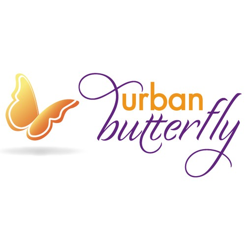 Create the next logo for urban butterfly