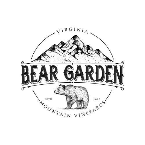 Vintage logo for vineyards in Virginia