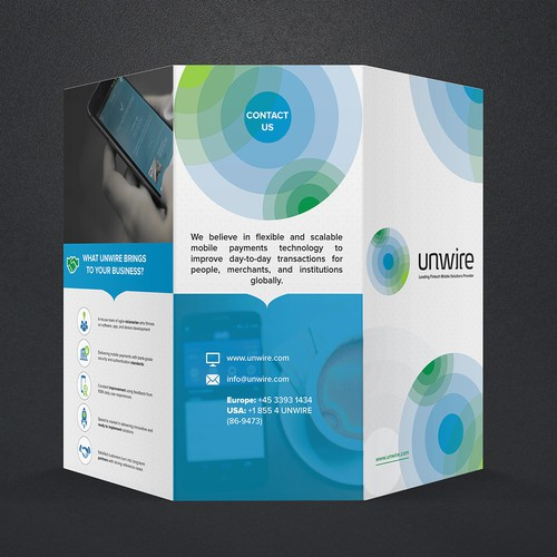 Simplistic unique tri-fold brochure flyer