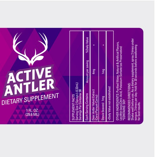 New product label wanted for Active Antler