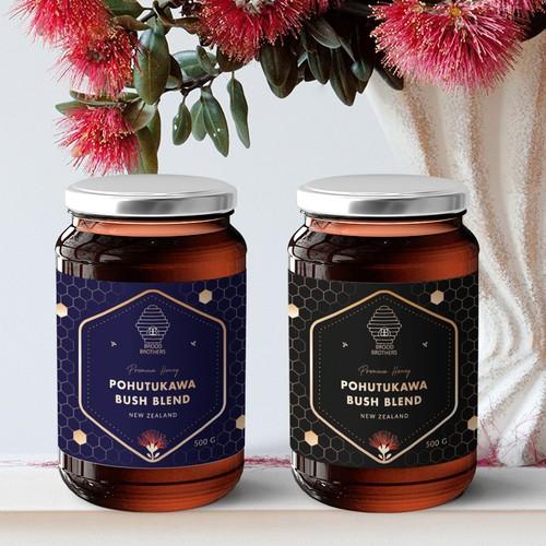 Honey Label design for Brood Brothers
