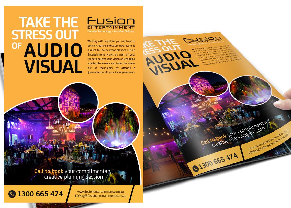 Event AV Company Print Magazine Ad
