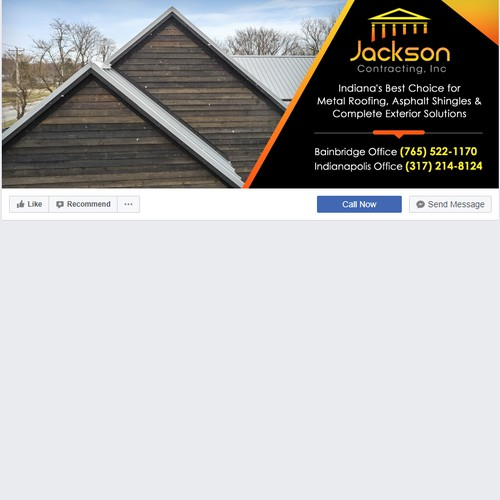 Specialty roofing company needs a fresh new Facebook Cover!