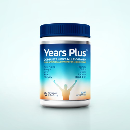 Years Plus Label Design